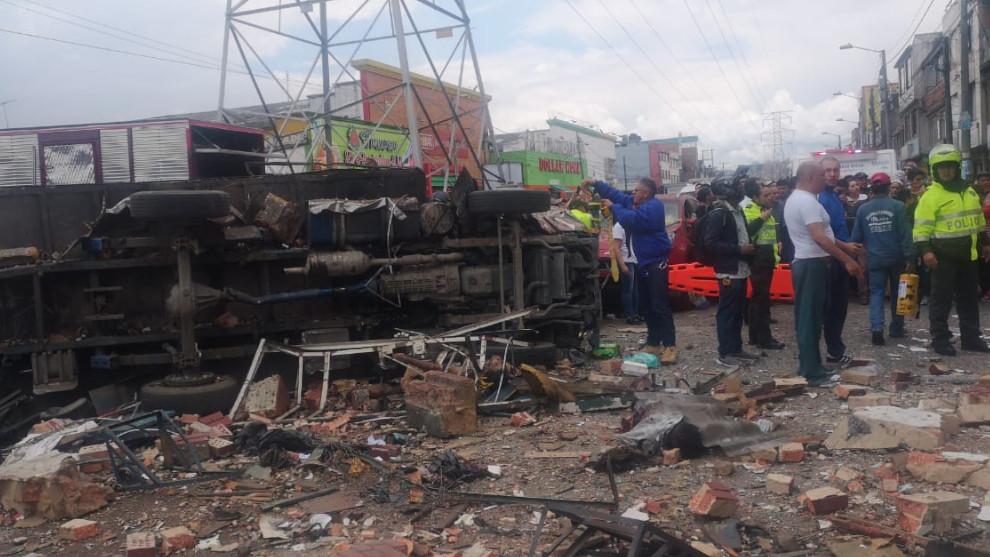 Explosión en taller de Bogotá deja cuatro personas sin vida y cinco heridos