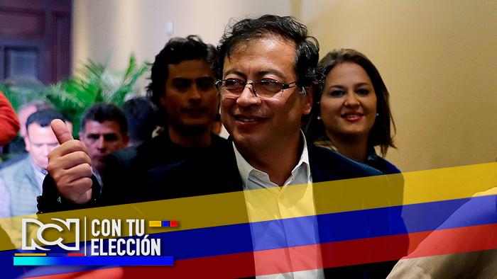 Foto: Gustavo Petro, ganador de la consulta interpartidista de izquierda frente a Carlos Caicedo - NoticiasRCN.com