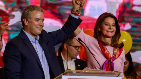 Iván Duque y Marta Lucía Ramírez. Foto: AFP