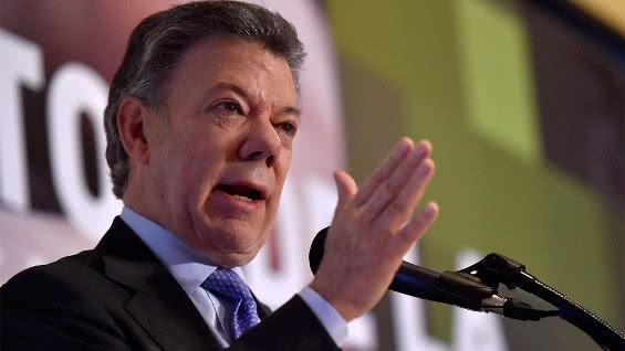 El presidente Juan Manuel Santos. Foto: AFP