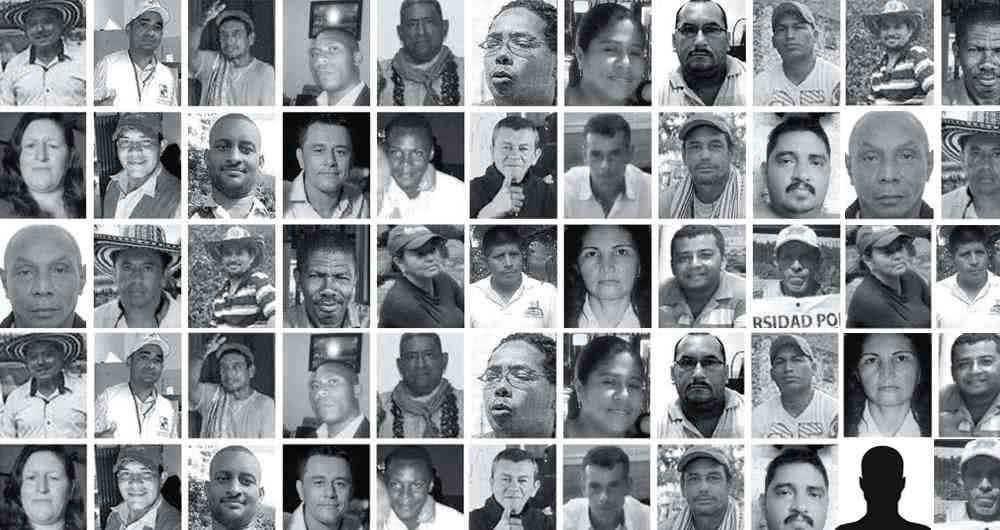 Marcha por líderes sociales en Colombia