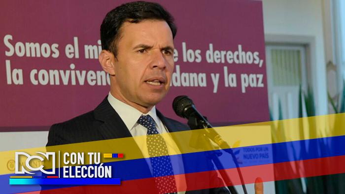 Foto: Guillermo Rivera Flórez, ministro del Interior - NoticiasRCN.com