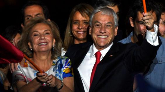 Sebastián Piñera y su esposa Cecilia Morel. Foto: AFP