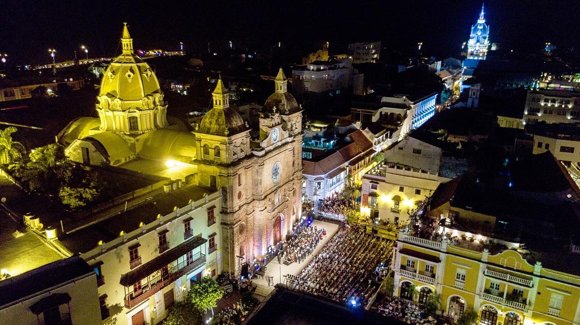 Foto: Plaza de San Pedro en Cartagena - Festival Internacional de Música de Cartagena