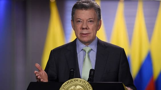 Juan Manuel Santos, presidente de Colombia. Foto: SIG