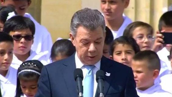 El presidente Juan Manuel Santos.
