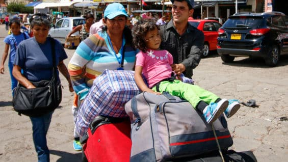 Migrantes venezolanos. Foto: AFP