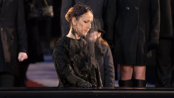 32b896d2534 Así fue el último adiós de Céline Dion a su esposo