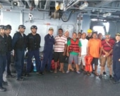 Los rescatados fueron llevados a Cartagena, en donde recibieron atención médica, para luego ser puestos a disposición de Migración Colombia. Foto: Oficial
