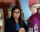 Delcy Rodríguez, presidente de la Constituyente. Foto: Juan Barreto/AFP