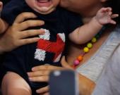 El bebé falleció por las heridas. Foto: AFP