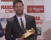 El argentino Lionel Messi obtuvo su cuarta Bota de Oro. Foto: NoticiasRCN.com