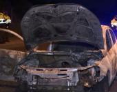El carro quemado en la calle 170.