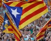Manifestación a favor de la independencia de Cataluña.