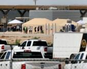 Centro de detención temporal para niños en la frontera. Foto: AFP