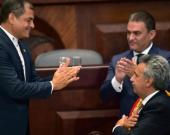 Durante la posesión de Moreno no había discrepancias entre los dos líderes. Foto: AFP