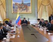 Reunión del Consejo de Defensa de Venezuela. Foto: EFE