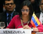 Delcy Rodríguez, canciller de Venezuela. Foto: archivo AFP