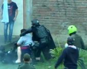 Momentos más críticos del enfrentamiento. Foto:tomada de NoticiasRCN