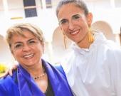 Dolly Montoya y la ministra de Educación, Yaneth Giha. Foto: Oficial