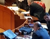 El exfiscal Luis Gustavo Moreno en la Corte Suprema.