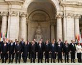 Los 27 líderes de la Unión Europea (UE). Foto: EFE