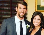 Michael Phelps, nadador estadounidense, y su esposa Nicole Johnson. Foto: Facebook.
