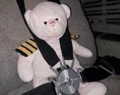 El oso de peluche viajó una hora para reencontrarse con su dueña. Foto: Longanair
