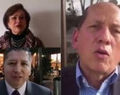 """Rechazo de varias víctimas al homenaje a """"Jojoy"""". Foto: Captura de vídeo NoticiasRCN"""