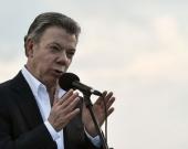 Juan Manuel Santos, presidente de Colombia. Foto: Luis Robayo / AFP