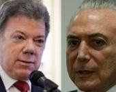 Foto: Presidente Juan Manuel Santos y Michel Temer/ EFE