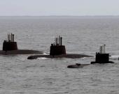 Tres submarinos tenía la Armada de Argentina. Foto: AFP