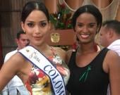 Vanessa Mendoza junto a la Señorita Colombia. Foto: @vanessamendozab (Instagram).