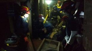La explosión ocurrió en momentos en que los bomberos se preparan para atender emergencias en minas. Foto:Dirección Nal. Bomberos