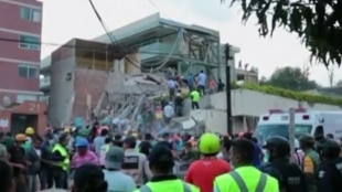 Las labores de búsqueda más complejas se centran en este colegio de México donde quedaron atrapados varios niños. Foto:Captura de vídeo NoticiasRCN