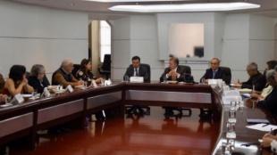 La primera reunión de la Comisión de la Verdad.