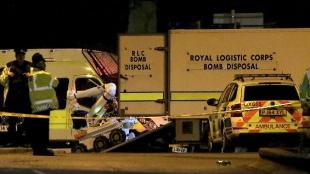 La explosión se registró, según reportes, a las 10:35 p.m. Foto: EFE