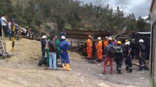 La explosión se presentó en la mina de carbón. Foto: Defensa Civil