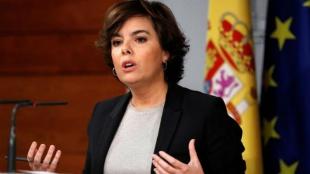 Soraya Sáenz de Santamaría, vicepresidenta del Gobierno español. Foto: EFE/Chema Moya