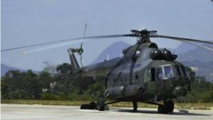 Foto: Internet / Helicóptero siniestrado
