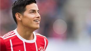 James se refirió también a la historia del Bayern y dijo que el primer nombre que le viene a la cabeza es el del exportero Oliver Kahn. Foto AFP