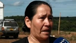 Gerlys Sánchez, madre de menor reclutada. Foto: NoticiasRCN.com