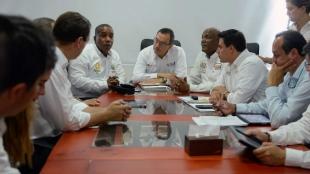 Mesa de diálogo entre delegados de Gobierno y comité del paro cívico en Chocó. Foto: SIG