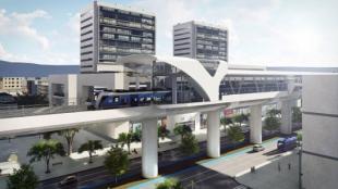 Modelo de una estación de la primera línea del Metro en Bogotá. Foto: Distrito