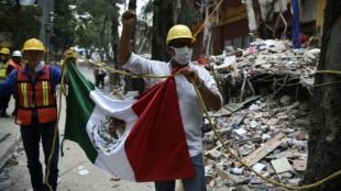 Socorristas mexicanos. Foto: Alfredo Estrella / AFP
