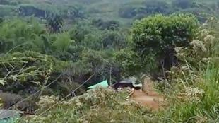 Foto:Derrumbe en mina artesanal en Santander de Qilichao / NoticiasRCN.com