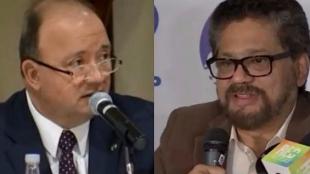 Luis Carlos Villegas. ministro de Defensa - 'Iván Márquez', jefe guerrillero de las Farc. Foto: NoticiasRCN.com