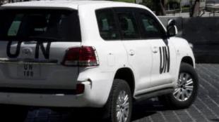 Foto: Camioneta de la ONU