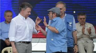 Juan Manuel Santos, presidente de Colombia. Foto: AFP