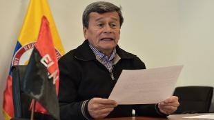 Foto: Pablo Beltrán, jefe del equipo negociador del ELN / AFP